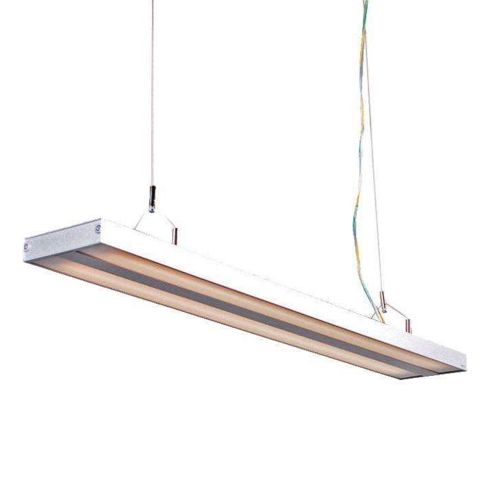 Lampada-a-sospensione-'Tube-S-2-x-21W'-moderna-grigia/alluminio-interna