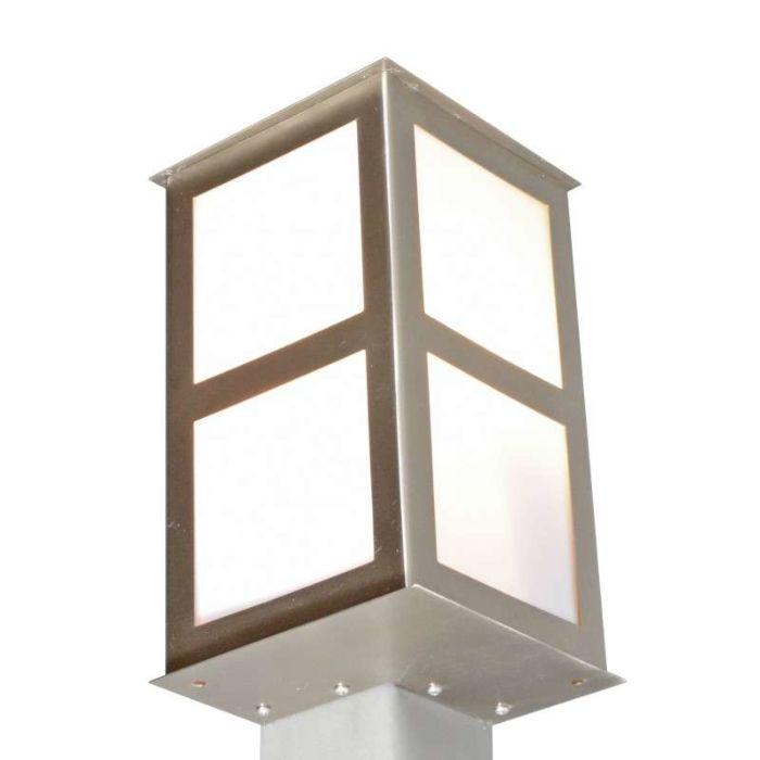 Applique-'Corner'-moderno-acciaio---adatto-per-LED-/-esterno