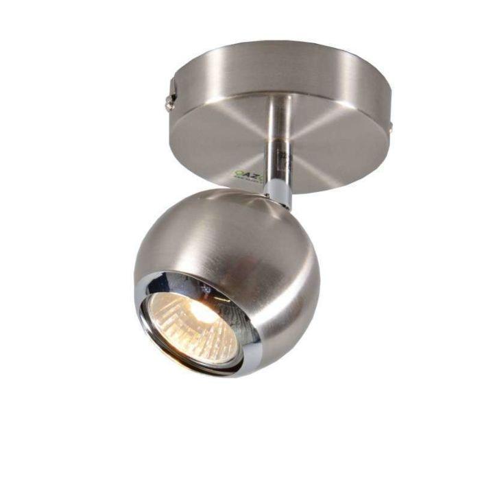 Faretto-da-soffitto/parete-'Buell-1'-moderno-acciaio---adatto-per-LED-/-interno