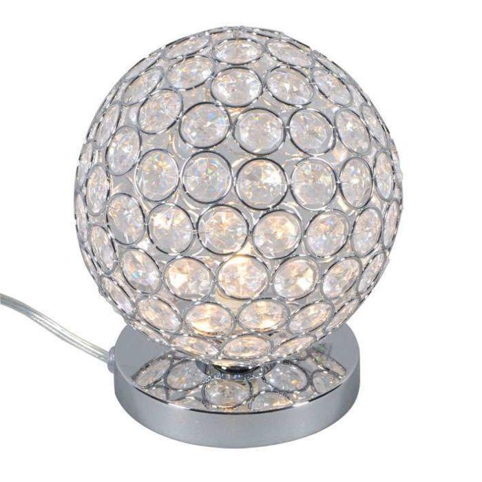 Lampada-da-tavolo-'Sfera-1'-moderna-trasparente/cristallo---adatta-per-LED-/-interna