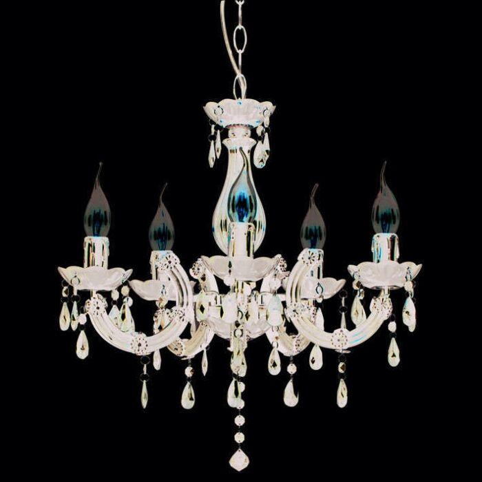 Lampadario-'Marie-Theresa-5'-classico-nero/plastica---adatto-per-LED-/-interno