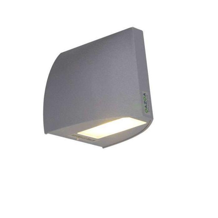 Applique-'Mimo'-moderno-carbone/alluminio---include-LED-/-esterno,-interno,-bagno