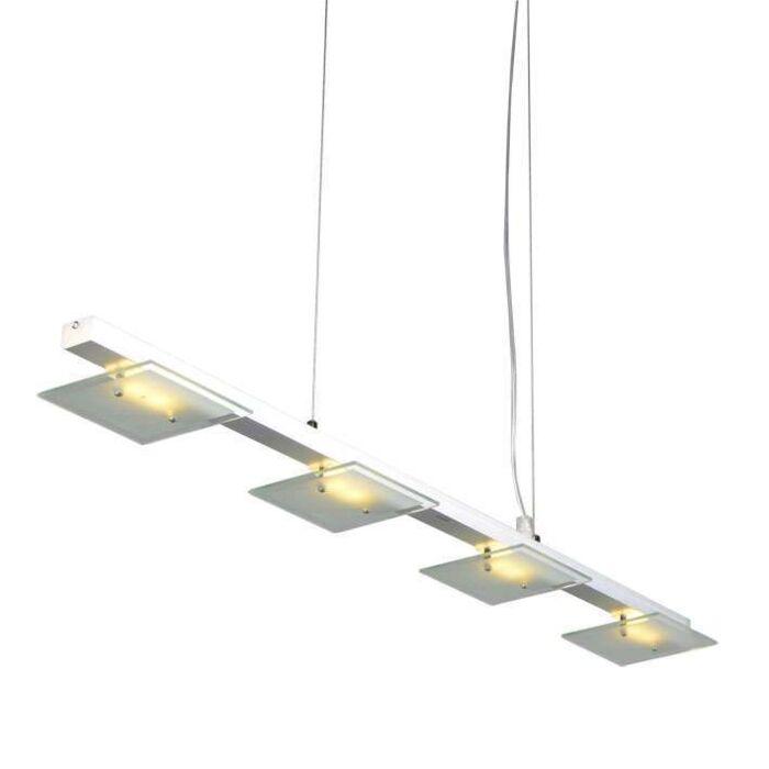 Lampada-a-sospensione-tavolo-soggiorno-'Rilox-4'-moderna-trasparente/vetro---include-LED-/-interna