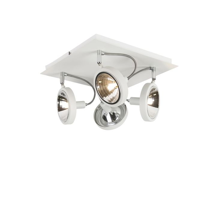 Design-spot-bianco-regolabile-a-4-luci---Nox