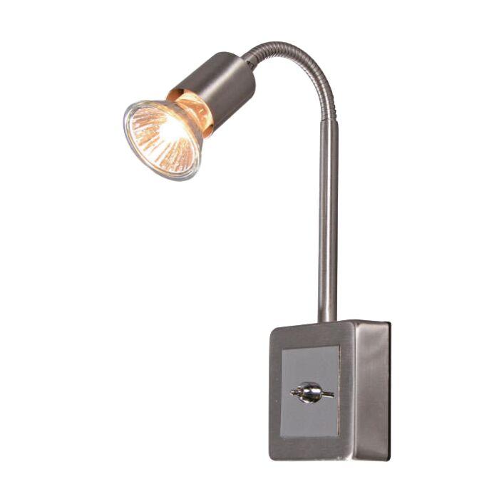 Faretto-con-spina-'Plug-Flex'-moderno-acciaio---adatto-per-LED-/-interno