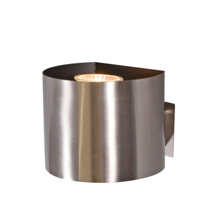 Faretto-con-spina-'Plug-R'-moderno-acciaio---adatto-per-LED-/-interno