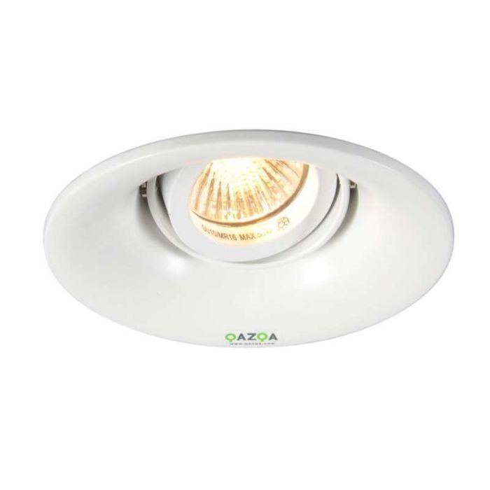 Faretto-da-incasso-'Punch'-moderno-blanco/metallo---adatto-per-LED-/-interno