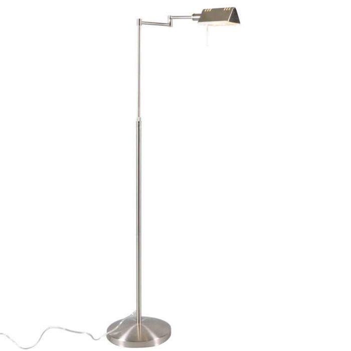 Lampada-da-terra-regolabile-'Sugar'-moderna-acciaio---adatta-per-LED-/-interna