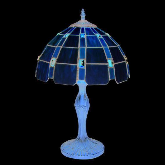 Lampada-da-tavolo-'Liddesdale-L'-tiffany-marrone-ossido/vetro---adatta-per-LED-/-interna