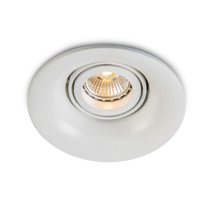 Faretto-da-incasso-'Punch'-moderno-blanco/metallo---adatto-per-LED,-include-LED-/-interno
