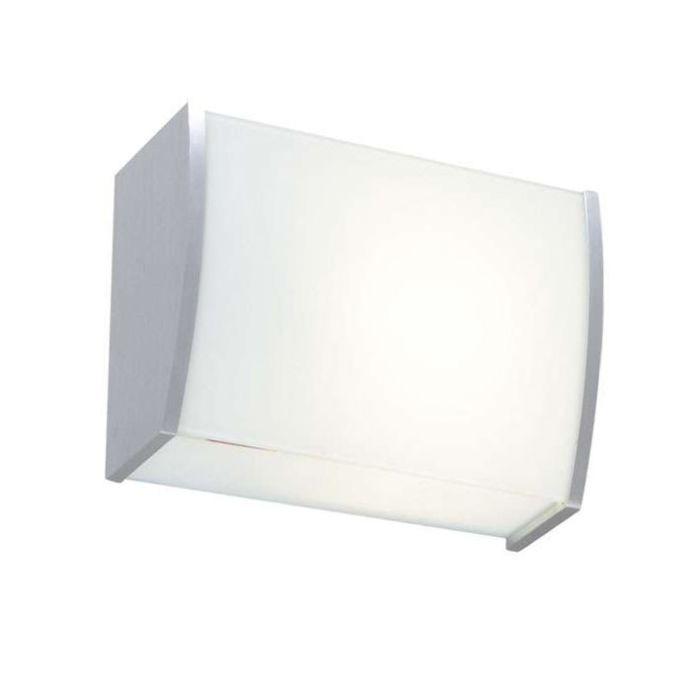 Applique-'Private'-moderno-blanco/vetro---adatto-per-LED-/-interno
