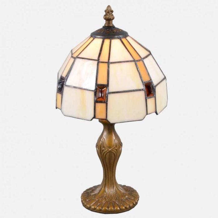 Lampada-da-tavolo-'Liddesdale-S'-tiffany-marrone-ossido/vetro---adatta-per-LED-/-interna