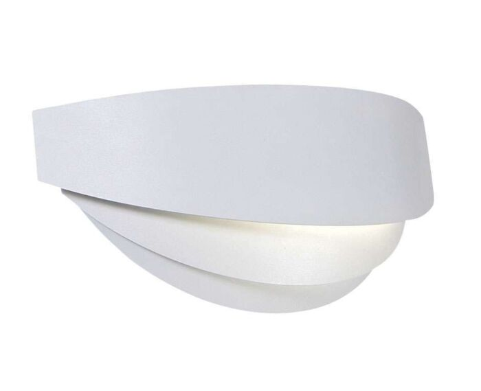 Applique-'Rumour'-design-blanco/metallo---adatto-per-LED-/-interno