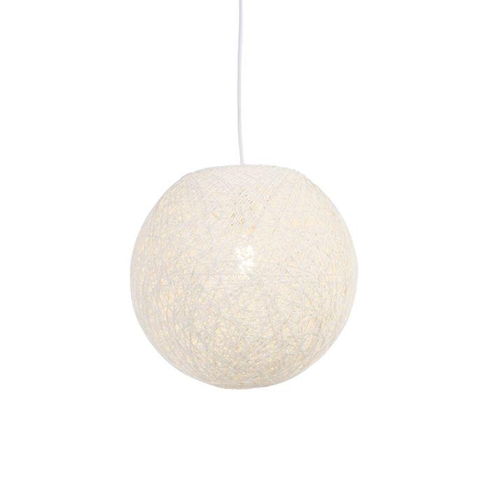 Lampada-a-sospensione-Country-bianco-35-cm---Corda