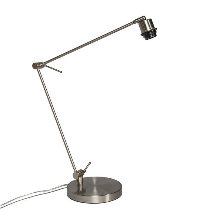 Lampada-da-tavolo-con-braccio-girevole-'Editor'-moderna-acciaio---adatta-per-LED-/-interna