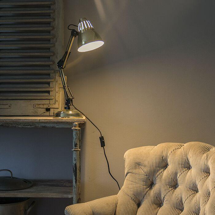 Lampada-da-tavolo-retrò-regolabile-in-ottone---Buzz