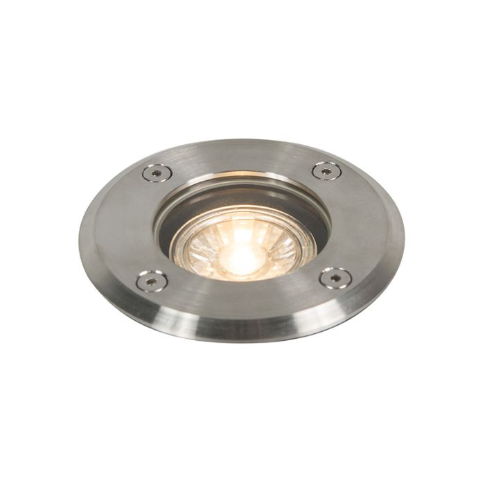 Spot-da-esterno-in-acciaio-11-cm-IP67---Base-tonda