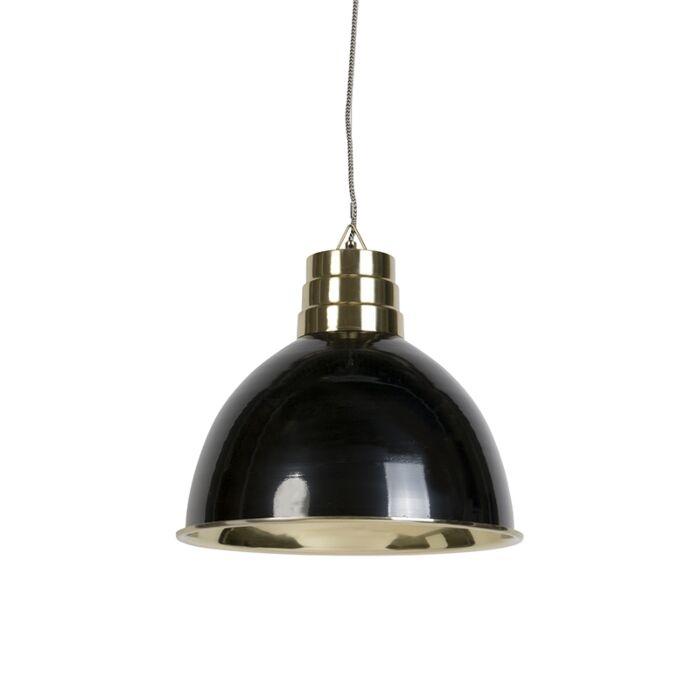 Lampada-a-sospensione-Art-deco-nero-e-ottone---BOMBAY