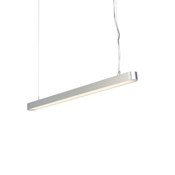 Lampada-a-sospensione-moderna-tonda-incl.-LED-100cm-argento---DUCT-R