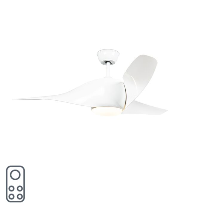 Ventilatore-da-soffitto-bianco-con-LED-con-telecomando---Sirocco-50