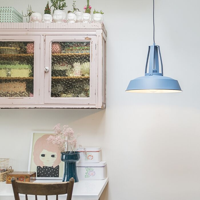 Lampada-a-sospensione-vintage-blu-43-cm---Living
