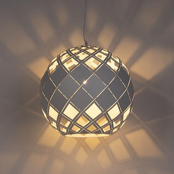 Lampada-a-sospensione-Art-Déco-bianca---TORMALINA