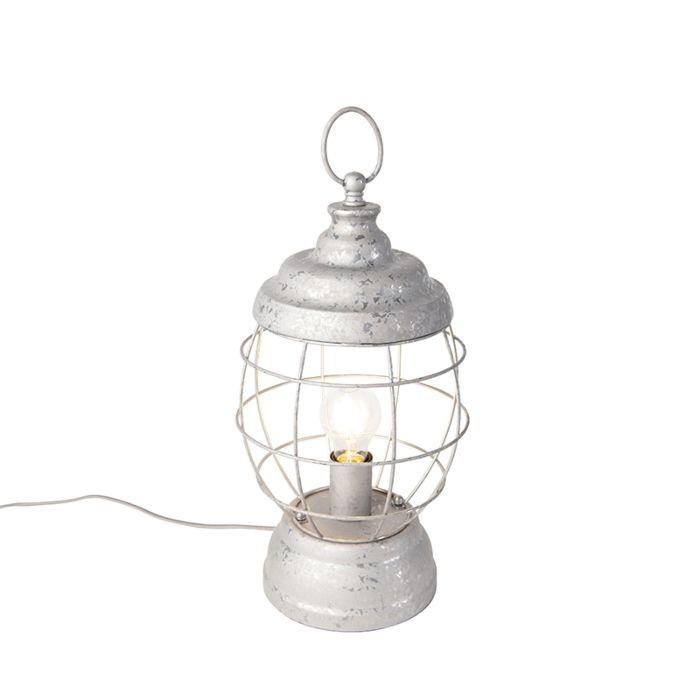 Lampada-da-tavolo-rustica-grigio---LENTERA