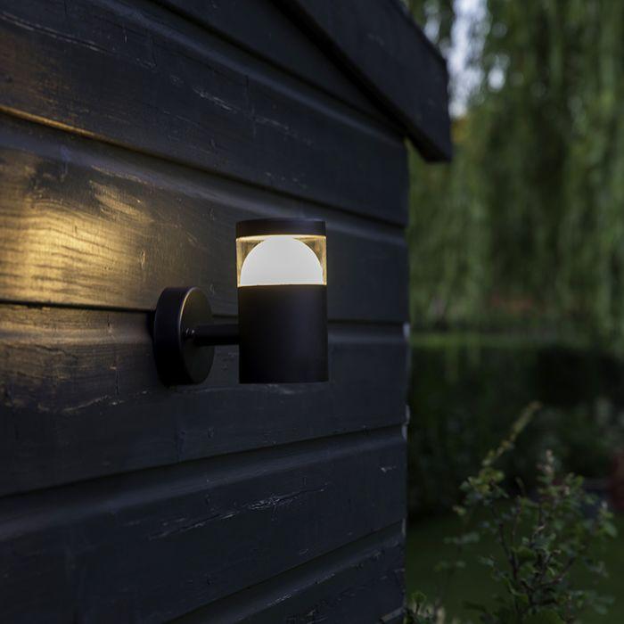 Applique-moderna-per-esterno-nera-con-LED---PRIM