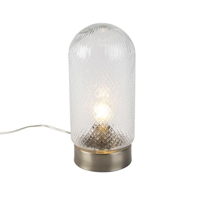 Lampada-da-tavolo-vintage-cilindro-vetro-lavorato-grande---BARDO