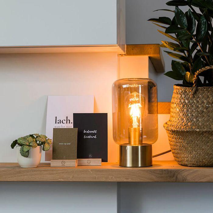 Design-in-ottone-con-lampada-da-tavolo-in-vetro-fumé---Bliss-Cute