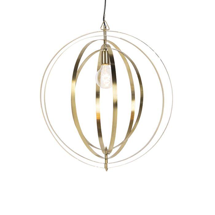 Lampada-a-sospensione-vintage-in-ottone---Anelli