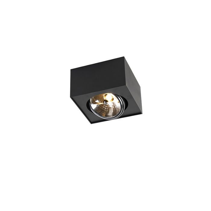 Spot-design-quadrato-1-luce-incl.-G9-nero---Kaya