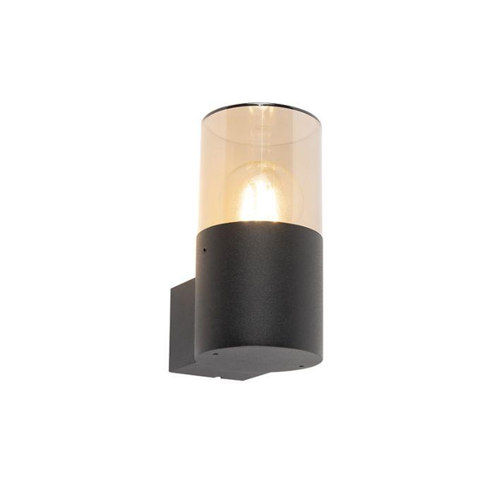 Lampada-da-parete-moderna-per-esterno-nera---Odense