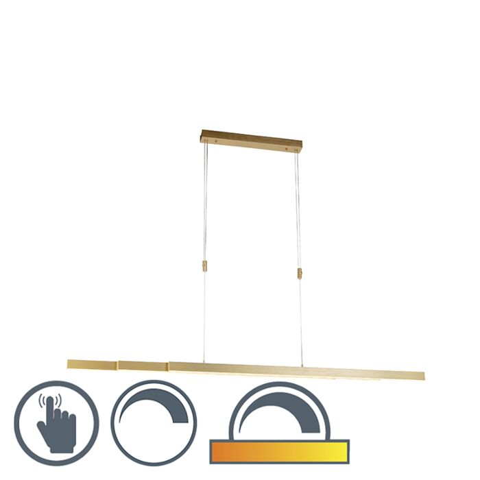 Lampada-a-sospensione-orientabile-in-ottone-dim-a-caldo-con-LED---Juliet