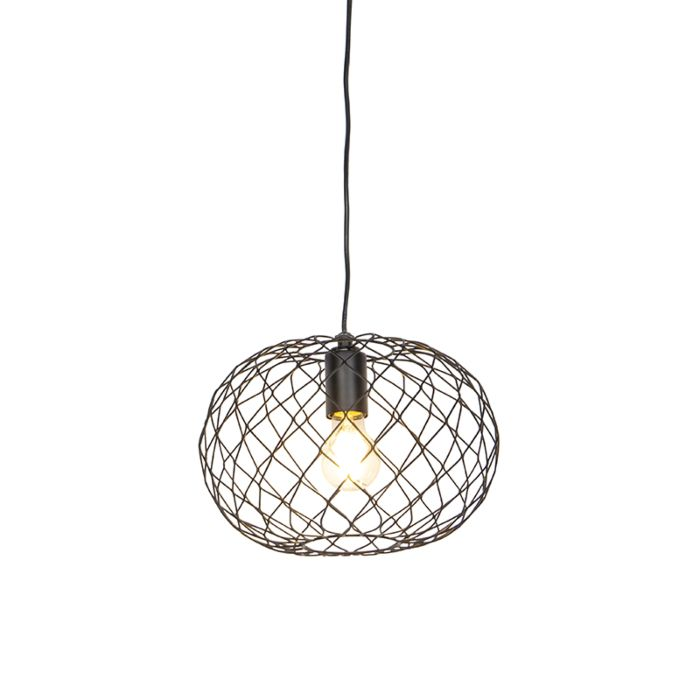 Lampada-a-sospensione-design-nero---Helian