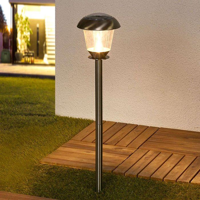 Lampada-da-esterno-classica-in-acciaio-inossidabile-con-LED-a-energia-solare---Nela