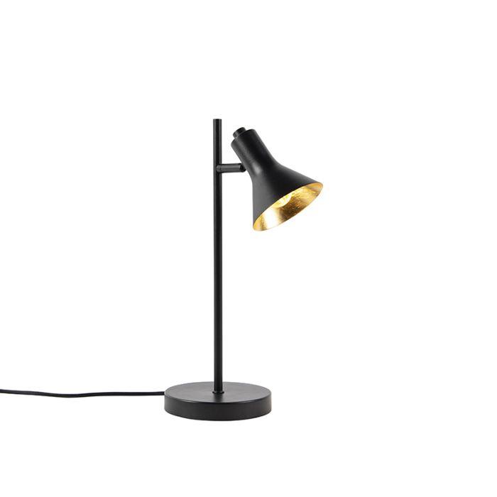 Lampada-da-tavolo-moderna-nera-con-oro-1-luce---Magno