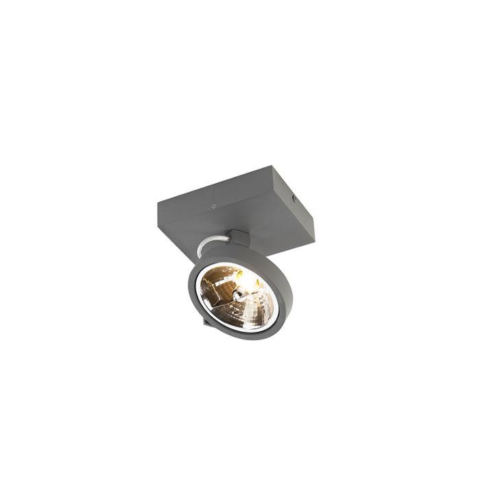 Faretto-design-grigio-orientabile-1-luce-incl.-LED---Go