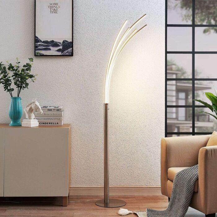 Lampada-da-terra-di-design-in-alluminio-con-LED---Boba
