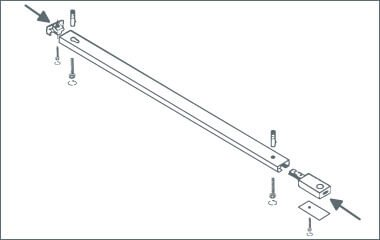 Passo 2. Attaccare il binario al soffitto