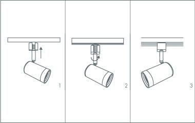 Passo 4. Attaccare i faretti sul binario